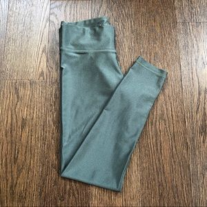 Pants - Whisper Metallic Army Yoga Leggings